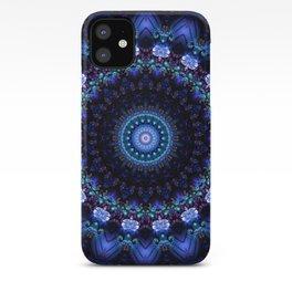 Cerulean Night Jewel Mandala iPhone Case