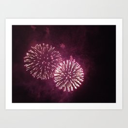 Fireworks, Double Art Print