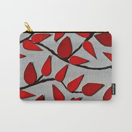 Red Autumn Leaves over Dark Skies Carry-All Pouch