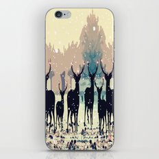 Deer in the snowy forest iPhone & iPod Skin