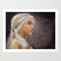 khaleesi Art Prints featuring Khaleesi by iPaints
