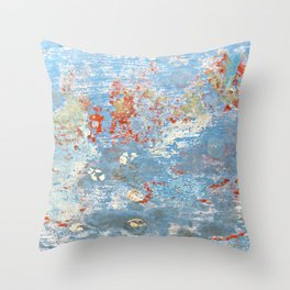 Memories of the Sea -- abstract marine paint age grunge boat nautical  Throw Pillow