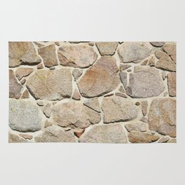 old quarry stone wall Rug