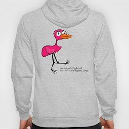 Pink Bird Not Perfect Hoody
