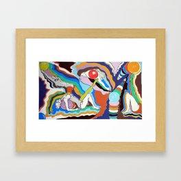 Rythmic Balls Framed Art Print