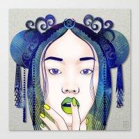 luna Canvas Prints featuring Luna by Stevyn Llewellyn
