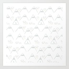 Camp out Art Print