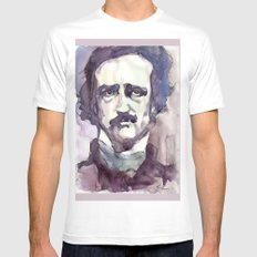 Edgar Allan Poe X-LARGE White Mens Fitted Tee
