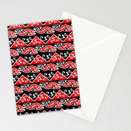 Kowhaiwhai Traditional Maori Koru Pattern Stationery Cards