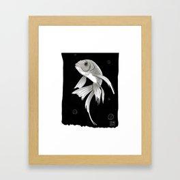 Koi carp design Framed Art Print