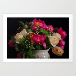 Colourful bouquet Art Print