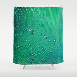 Emerald Feather Shower Curtain