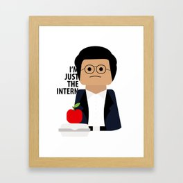 I'm Just the Intern Geek Framed Art Print