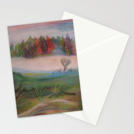 autumn medow Stationery Cards