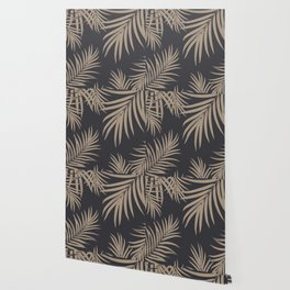 Palm Leaves Pattern Sepia Vibes #2 #tropical #decor #art #society6 Wallpaper