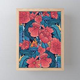 The Red Flowers Framed Mini Art Print