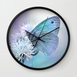 Butterfly blue 71 Wall Clock