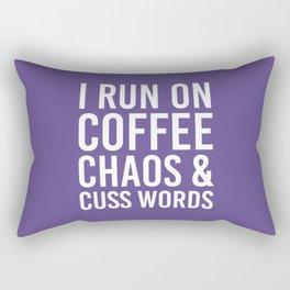 I Run On Coffee, Chaos & Cuss Words (Ultra Violet) Rectangular Pillow