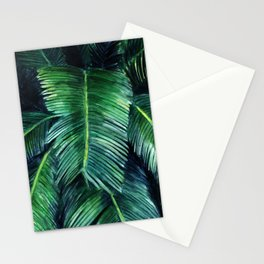 Watercolor tropical print Stationery Cards