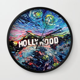 van Gogh Never Saw Hollywood Wall Clock