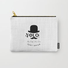 YOLO : You Only Live Once - Just Smile Carry-All Pouch