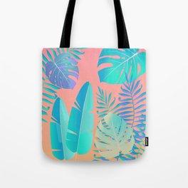 Tropics ( monstera and banana leaf pattern ) Tote Bag