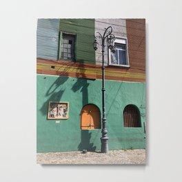 The Streetlamp, La Boca, Buenos Aires, Argentina Metal Print