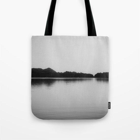 Herring Lake Black and White Tote Bag