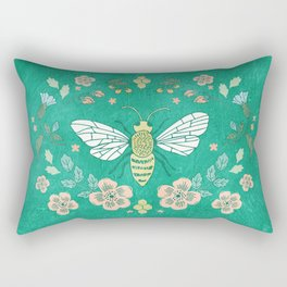 Bee Garden Rectangular Pillow