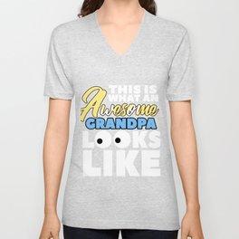 Relatives Family Kinship Ancestry Household Love Bloodline Ancestry Awesome Grandpa Gift Unisex V-Neck