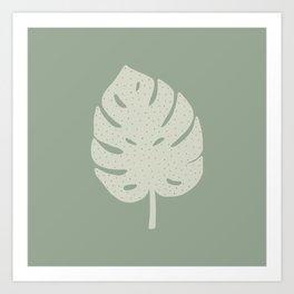 Monstera Leaf Art Print