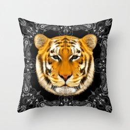 Tiger bandana Throw Pillow
