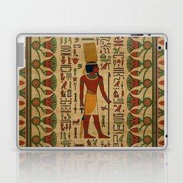 Egyptian Amun Ra - Amun Re Ornament on papyrus Laptop & iPad Skin