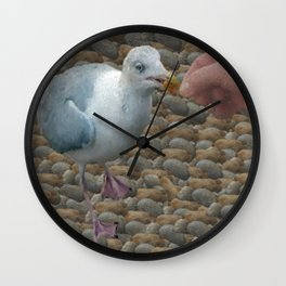 The Hand That Feeds Wall Clock