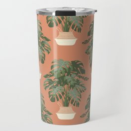 Monstera deliciosa Travel Mug