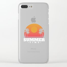 Vacation , Sommertime Clear iPhone Case