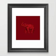 The Red Elephant Framed Art Print