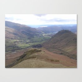 Grasmere from Steel Fell Canvas Print