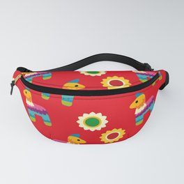 Pinata Mexican, Colorful Flowers, Mexican Art Fanny Pack