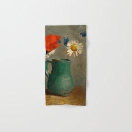 """Odilon Redon """"Pichet au Coquelicot et a la Marguerite"""" Hand & Bath Towel"""