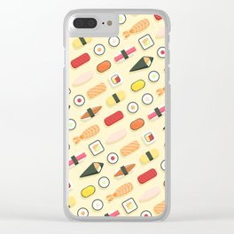 Sushi Pattern Clear iPhone Case