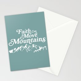 Retro Faith can Move Mountains Stationery Cards