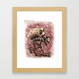 Krampus (with text) Framed Art Print