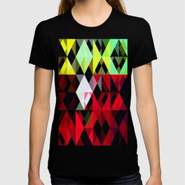 Mixed Color Poinsettias 2 Abstract Triangles 1 T-shirt