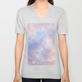 Pink sky / Photo of heavenly sky Unisex V-Neck