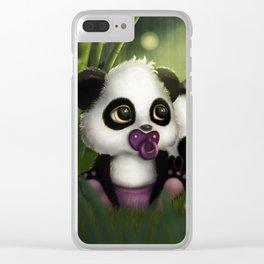 Baby Panda Bears Clear iPhone Case