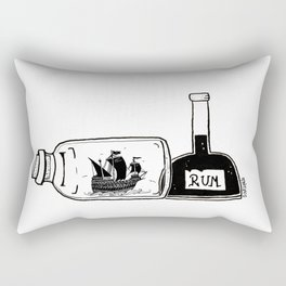 Ship in a Bottle - Hunting Rum Rectangular Pillow