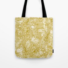 forest floor gold ivory Tote Bag