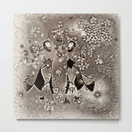 Tanz der Geishas Metal Print