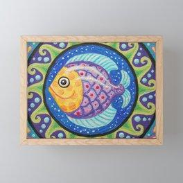Little Fishie Mandala Framed Mini Art Print